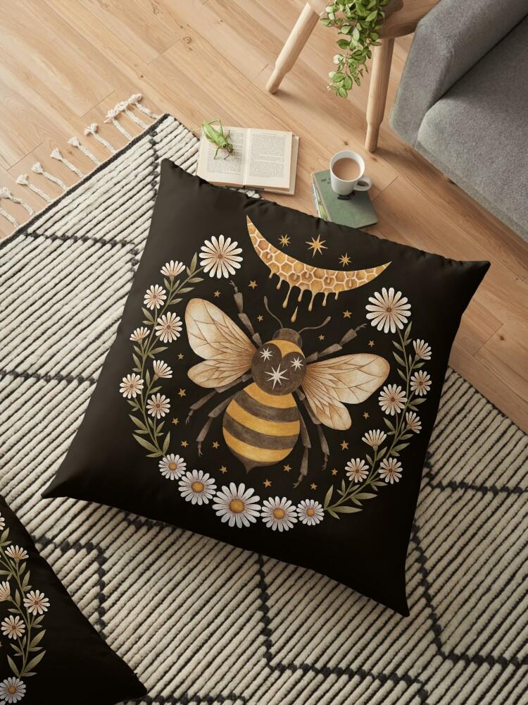 Coussin de sol abeilles