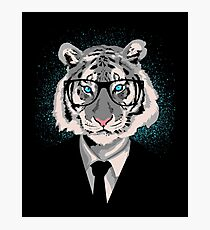 Hipster Tiger Face Photographic Print