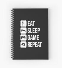 eat sleep game repeat Spiral Notebook