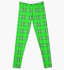Green Plaid Pattern Leggings