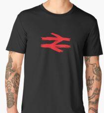 Doodle Style British Rail Double Arrow logo. Men's Premium T-Shirt