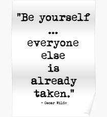 Oscar Wilde Be Yourself Poster