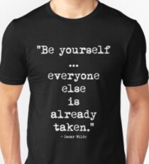 Oscar Wilde Be Yourself White Unisex T-Shirt