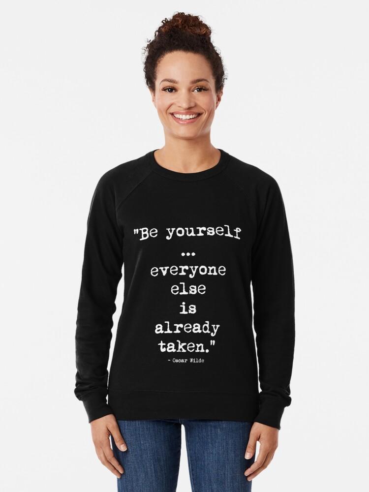 Alternative Ansicht von Oscar Wilde Be Yourself White Leichter Pullover