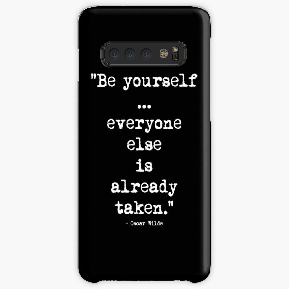 Oscar Wilde Be Yourself White Hüllen & Klebefolien für Samsung Galaxy