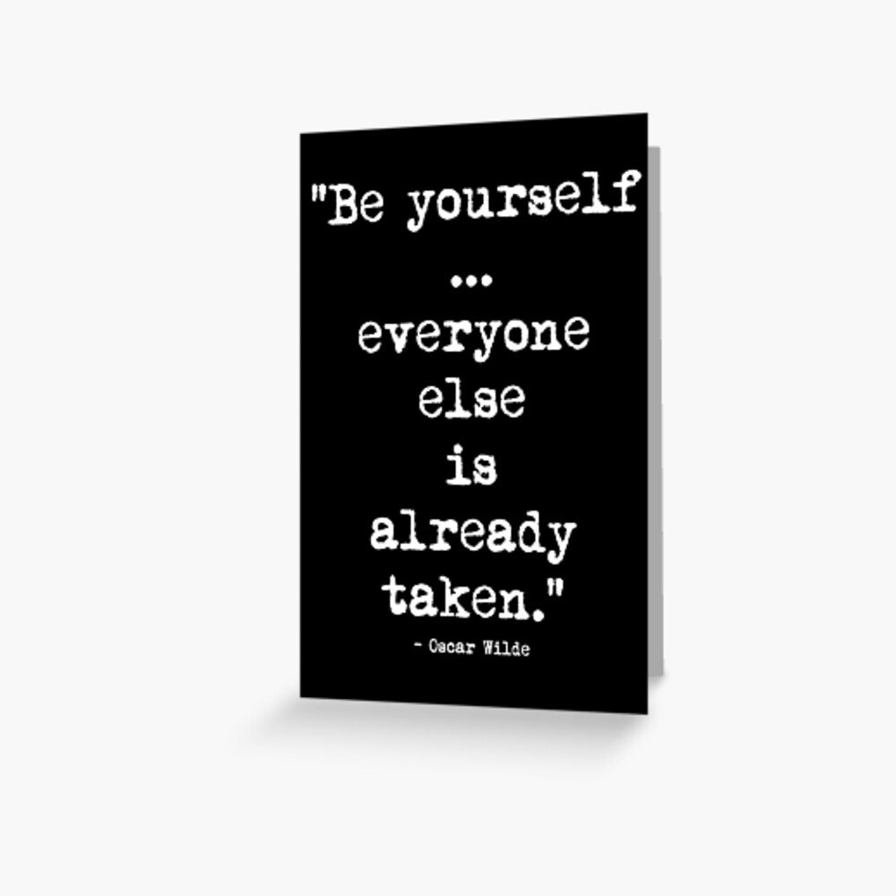 Oscar Wilde Be Yourself White Grußkarte