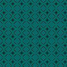 Simple geometric pattern 01 in green by MaijaR