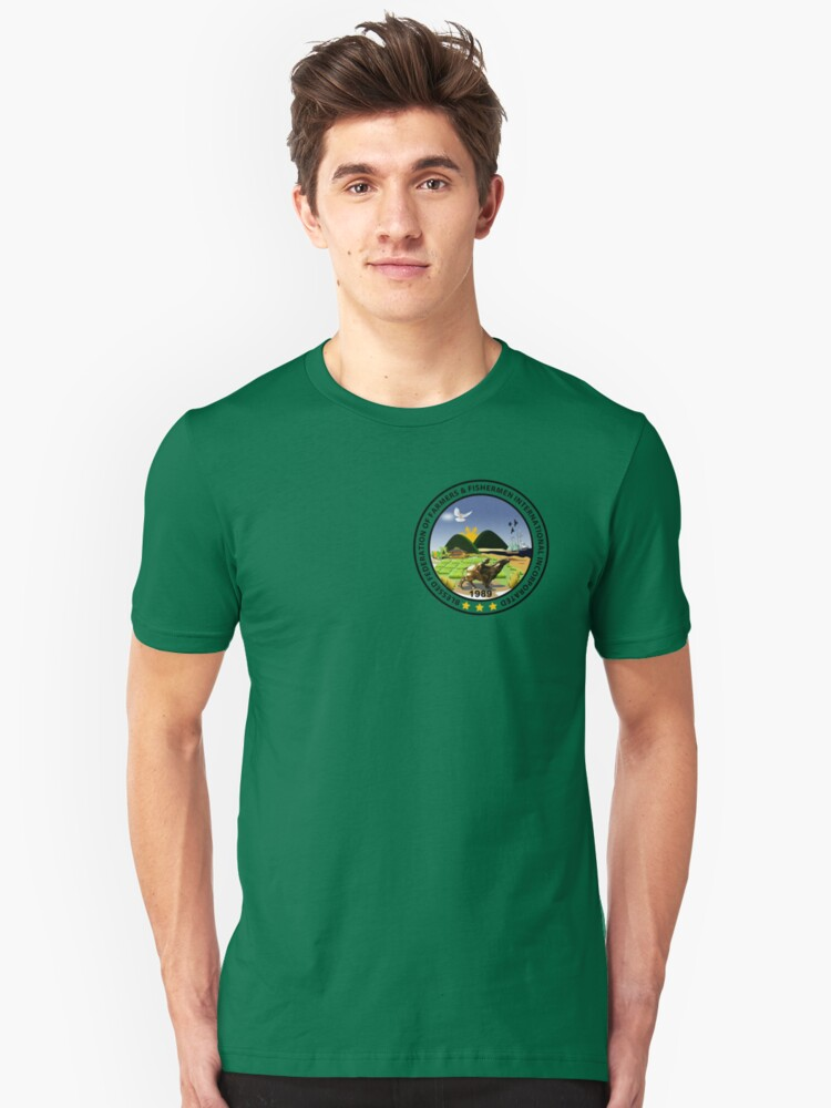 Blessed Federation of Farmers & Fishermen t-shirt /stickers-2 Unisex T-Shirt Front