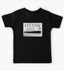 TITANIC, RMS Titanic, Cruise, Ship, Disaster Kids T-Shirt