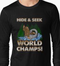 Bigfoot Riding Nessie - Sasquatch Loch Ness Monster T-shirt Long Sleeve T-Shirt