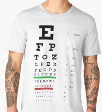 Snellen chart,  eye chart Men's Premium T-Shirt