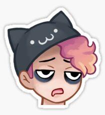 No Sleep Emote Sticker Sticker