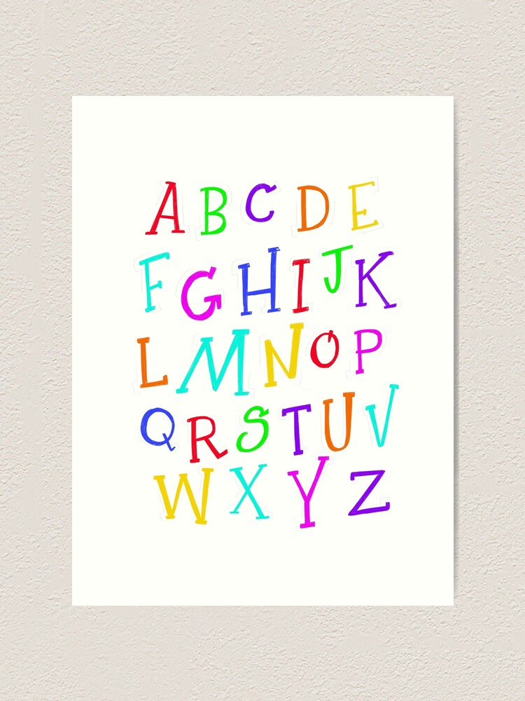 Alternate view of Now I Know My ABCs! Art Print