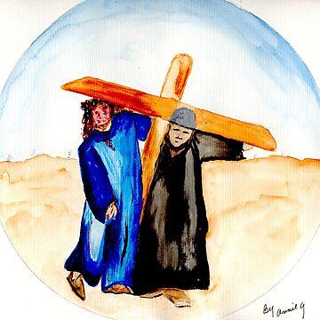 Jesus & Simon of Cyrene (2) by AnneG
