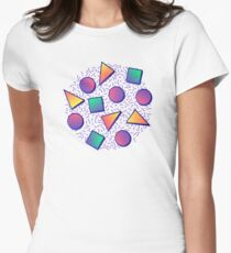 Retro Pattern Women's Fitted T-Shirt