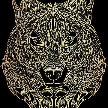 Gold Wolf by FayeLangoulant