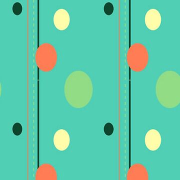 GREEN AND ORANGE POLKADOTS by Frogmuse