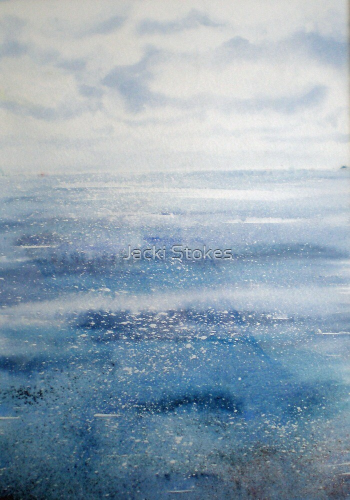 Down by the Sea (original painting sold) by Jacki Stokes