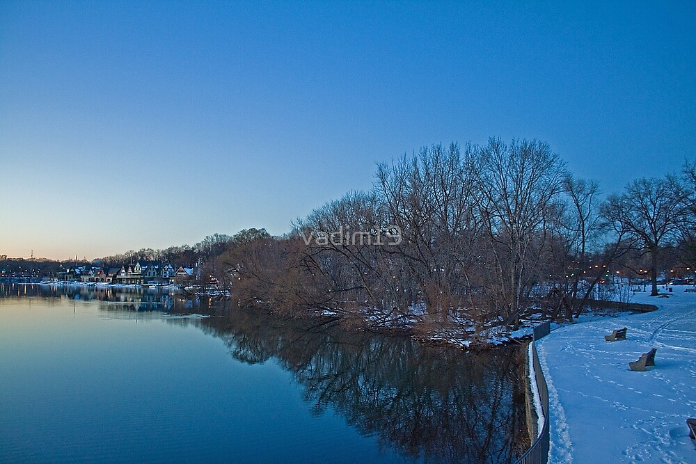 Boathouse Row in the Winter by vadim19