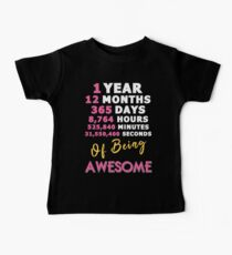 1st Birthday Shirt | Birthday Countdown | Of Being Awesome Baby Tee