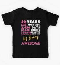 10th Birthday Shirt | Birthday Countdown | Of Being Awesome Kids Tee