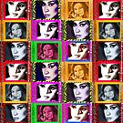LIZ SELLEY ART ICONS PAINTINGS COLLAGE by LizSelleyArt