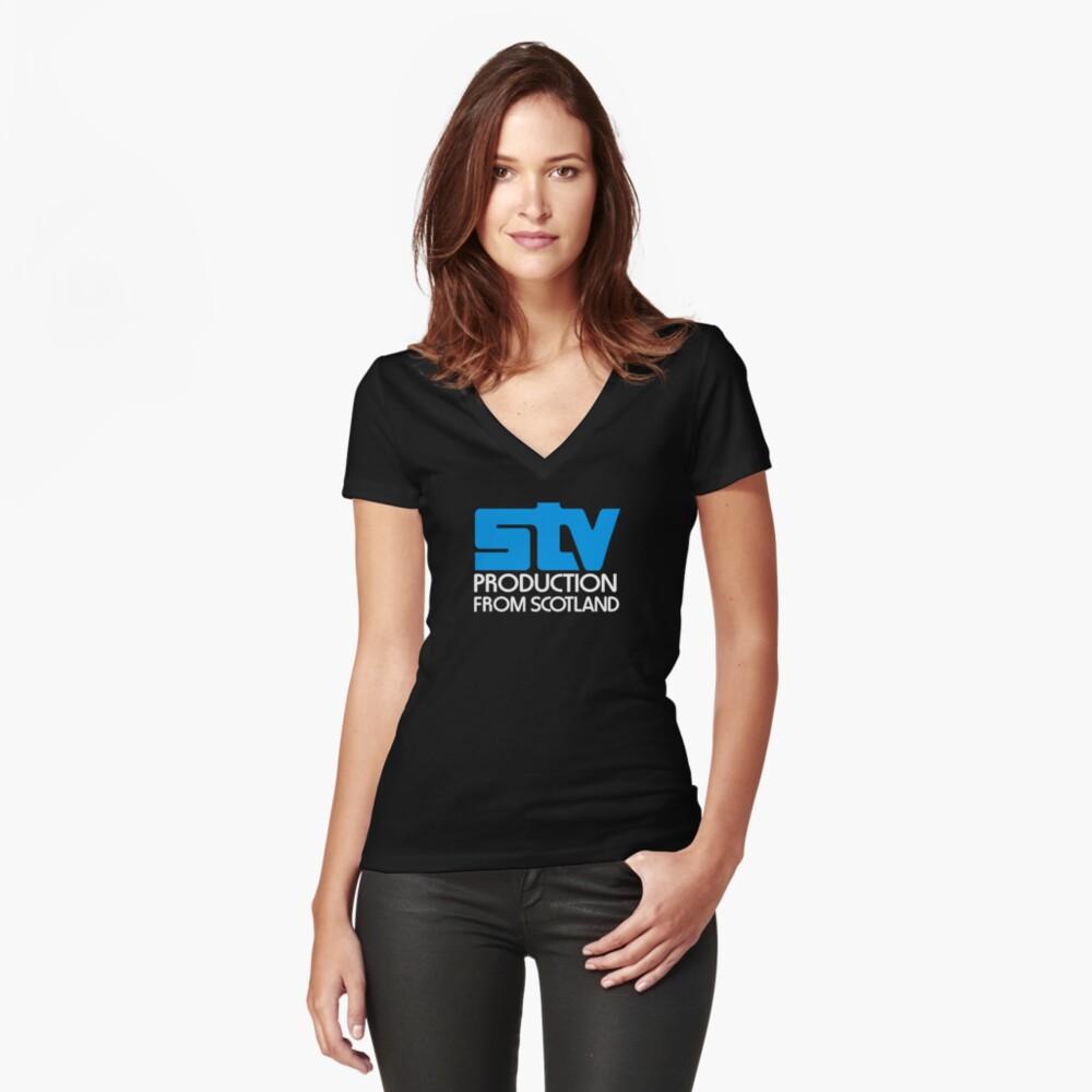 Scottish television STV retro logo Fitted V-Neck T-Shirt