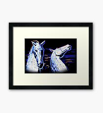 Electric Kelpies Colour Framed Print