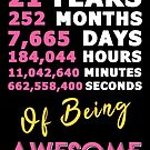 21st Birthday Shirt | Birthday Countdown | Of Being Awesome by wantneedlove