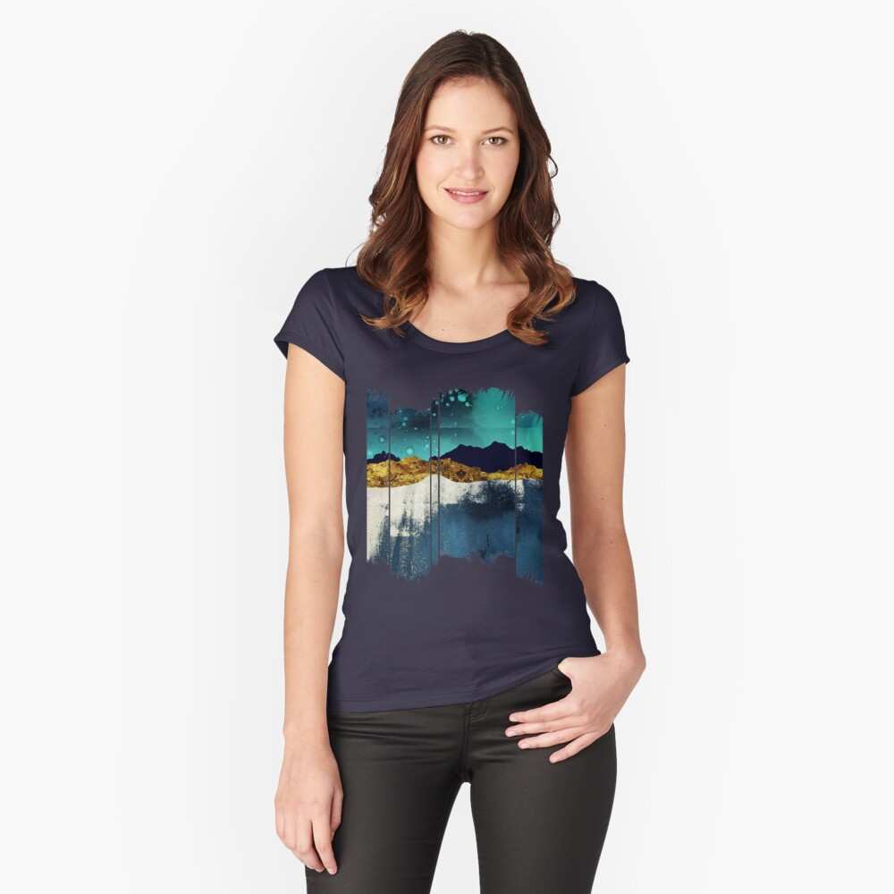 Evening Stars Fitted Scoop T-Shirt