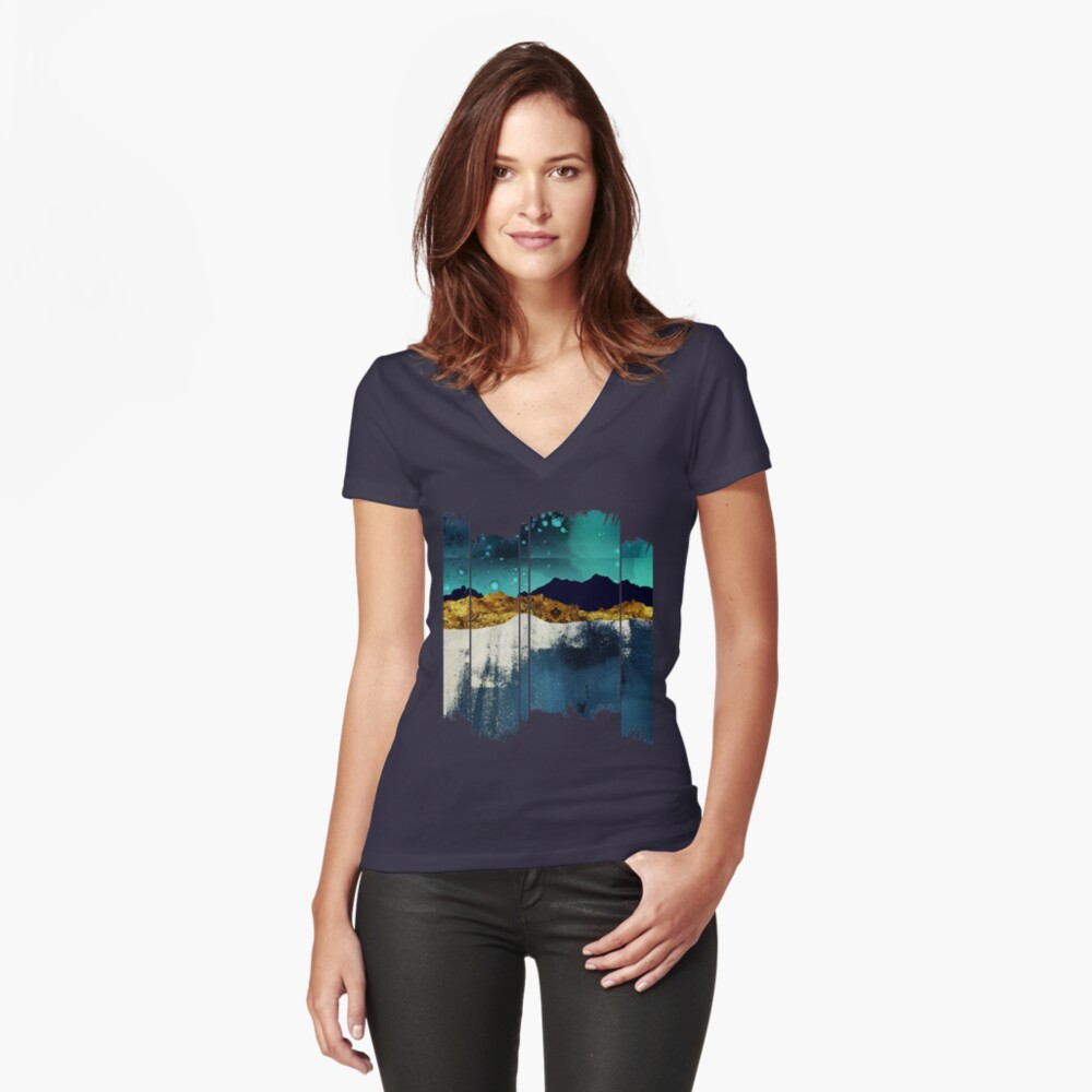 Evening Stars Fitted V-Neck T-Shirt