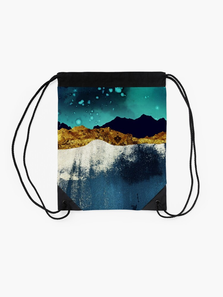 Alternate view of Evening Stars Drawstring Bag