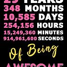 29th Birthday Shirt | Birthday Countdown | Of Being Awesome by wantneedlove