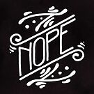 Nope Feminist Art Nouveau Ornate Hand Lettering Quote by arosecast