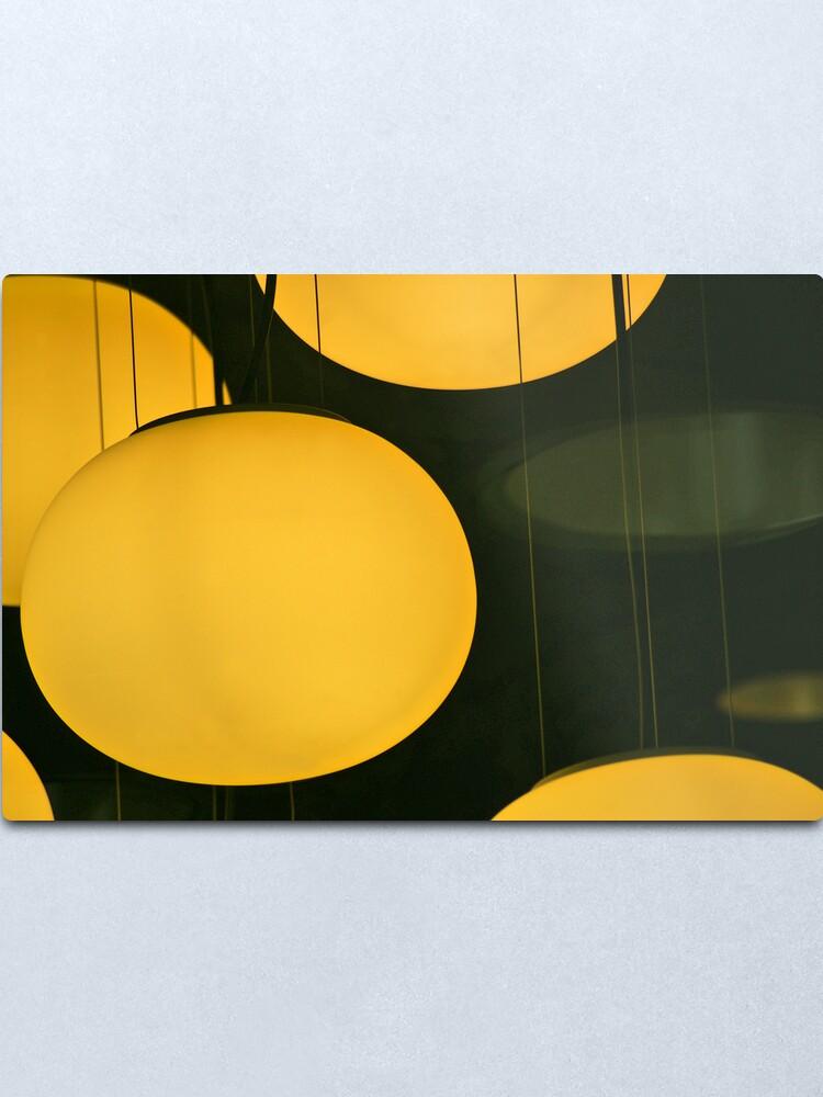 Alternate view of Cafe Lights Metal Print