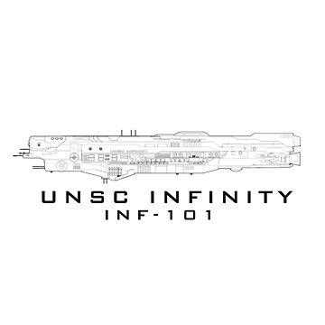 Halo | UNSC Infinity Linework by teethehee