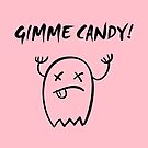 Gimme Candy Halloween Ghost Monotone by TinyStarAmerica