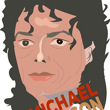 Michael Jackson  King of Pop,Standard Print Clothing,Large Print Clothing,Contrast Tanks,Women's Chiffon Tops,Graphic T-Shirt  by kartickdutta101