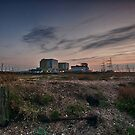Dungeness Power Station At Sundown by Dave Godden