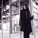 Urban Night Portrait with Sophia #1 by Jim Fisher
