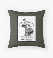 Fabulous Hoth Tauntaun Resort and Spa Throw Pillow