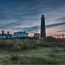 Dungeness Old Lighthouse At Sundown by Dave Godden