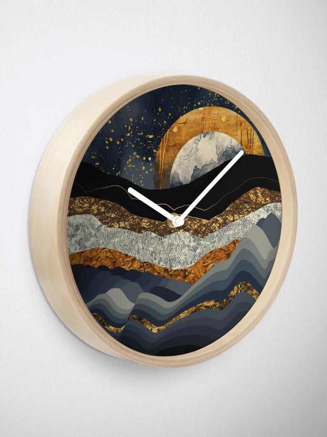 Vista alternativa de Reloj Montañas Metálicas