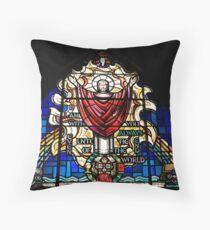 Bicentennial Window, Trinity Anglican Church, Cornwall, Ontario Throw Pillow