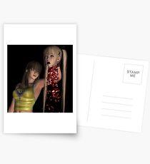 Blutige 3D-Hacken Postkarten