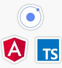 ionic angular typescript logo set Sticker