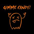 Gimme Candy Halloween Ghost Dark Monotone by TinyStarAmerica