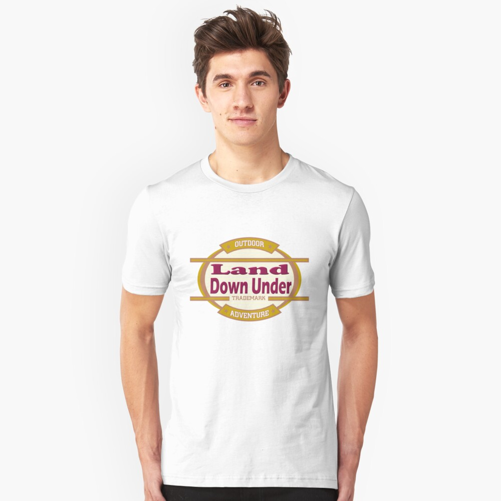 Land Down Under tee-shirt and stickers Unisex T-Shirt Front