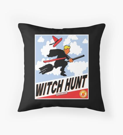 Witch Hunt Trump Treason Edition T-shirts Throw Pillow