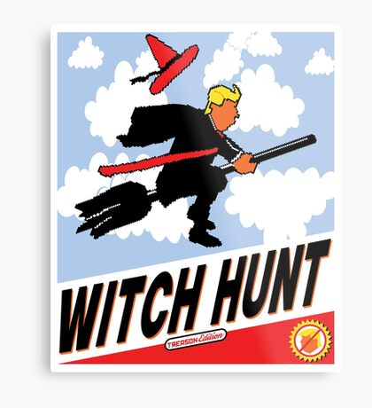 Witch Hunt Trump Treason Edition T-shirts Metal Print